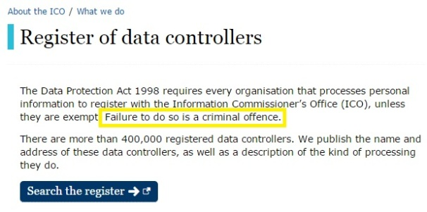 ico register of data controllers