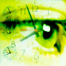 Clock over person s eye uid 1460629