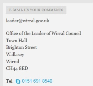 04 07 13 - councillor phil davies inviting contact