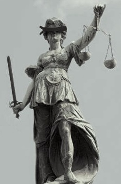 blindfolded justice statue