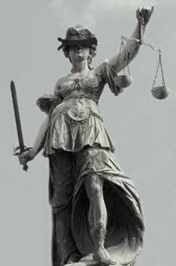 blindfolded justice statue