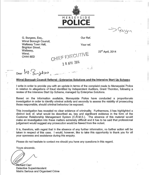 Merseyside police ISUS clearance