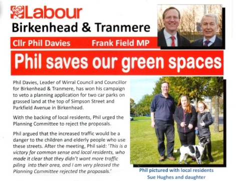 phil davies saves our green spaces