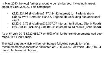 wirral council statement on amount to be reimbursed