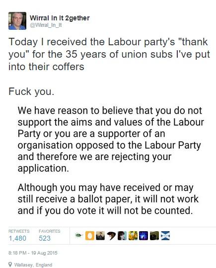 19 08 15 - Labour Corbyn ban tweet