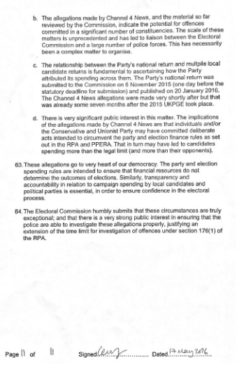 electoral commission statement page 11