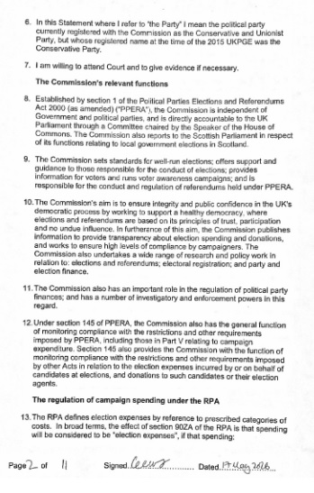 electoral commission statement page 2