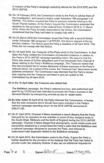 electoral commission statement page 7