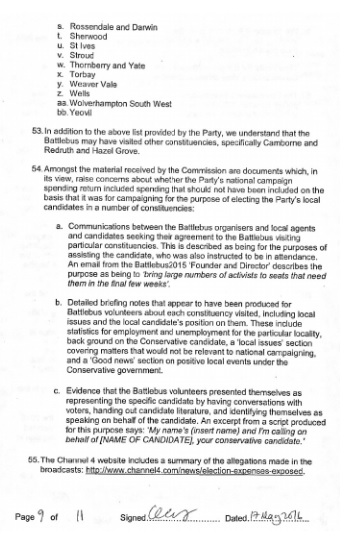 electoral commission statement page 9