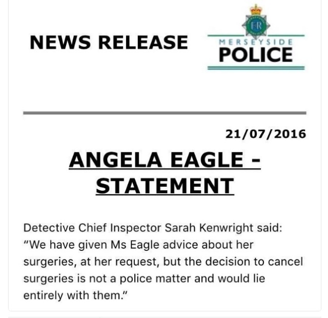 merseyside police statement on 21st July