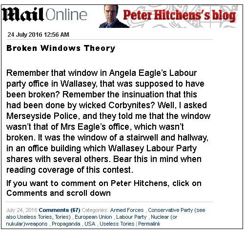 peter hitchens blog