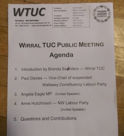 TUC meeting agenda Wallasey CLP