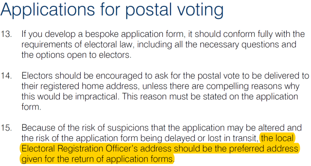 postal conduct
