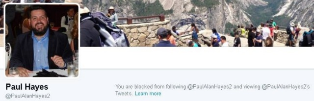 councillor paul hayes blocks me