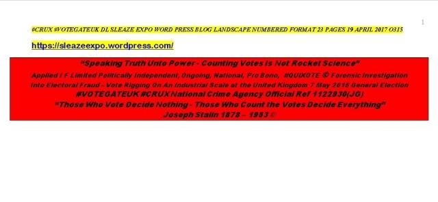 #CRUX #VOTEGATE DL SITEMAP - 19 04 17 - 2158