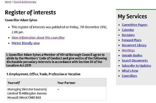 adam sykes wirral register of interests