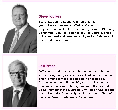 foulkes and green on board of magenta