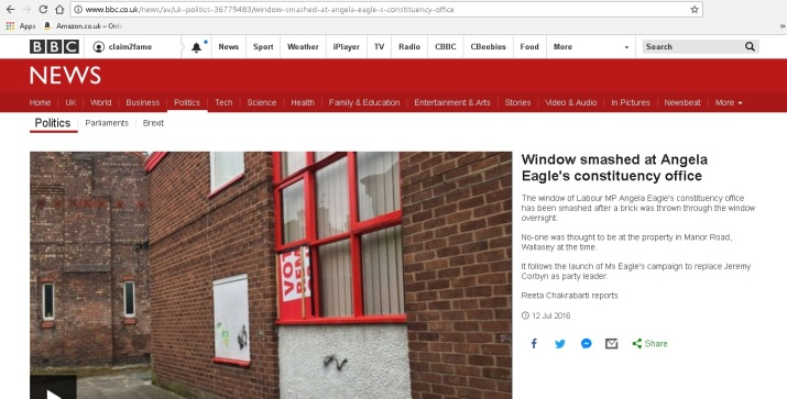 Example of BBC fake news