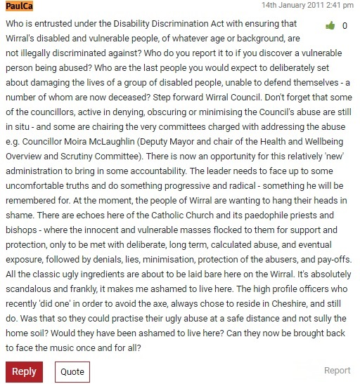 25 10 18 - PaulCa January 2011 comment on disability discrimination