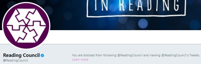 Reading Council blocking