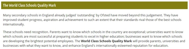 world class schools quality mark