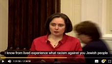 councillor moira mclaughlin walks out after Jo Bird mention of family experience during holocaust