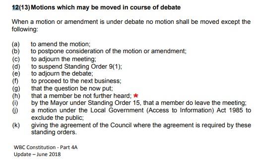 member be not further heard under 12(13)