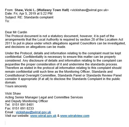05 04 19 - email 1 from Vicki Shaw at Wirral Council