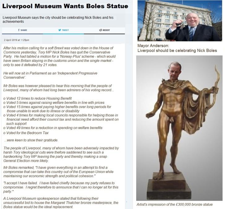 Nick Boles statue