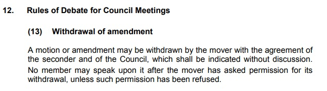Standing order 12, 13, Wirral Council