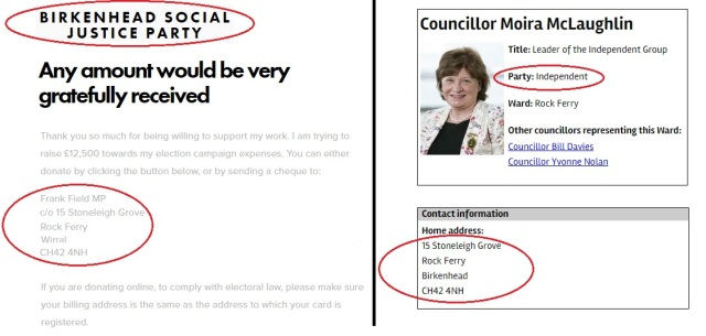 Field and McLaughlin - Birkenhead Social Justice Party
