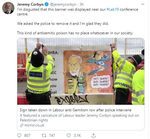 the corbyn death of labour tweet 2019
