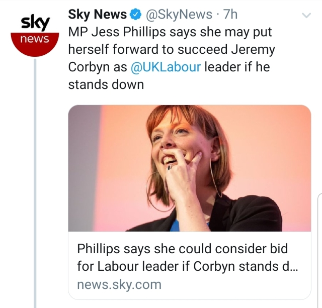 jess phillips to put herself forward as labour leader