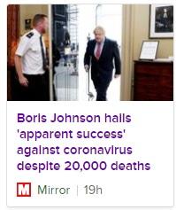 boris johnson hails successful coronavirus