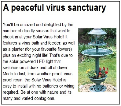 a peaceful virus sanctuary