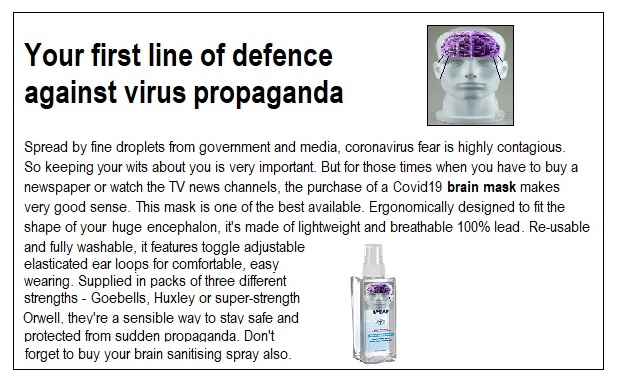 corona virus brain mask